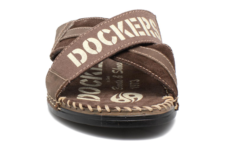 Sandales et nu-pieds Dockers xy17 Marron vue portées chaussures