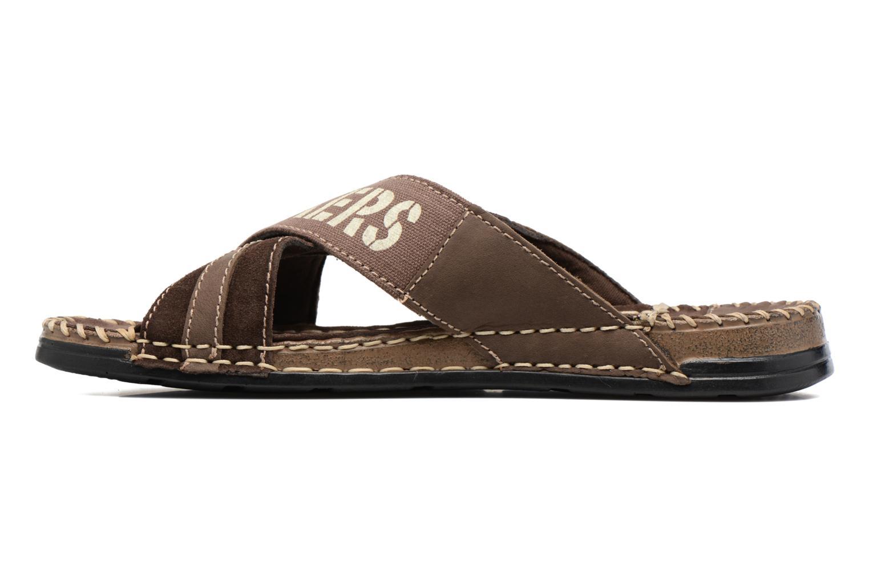 Sandales et nu-pieds Dockers xy17 Marron vue face
