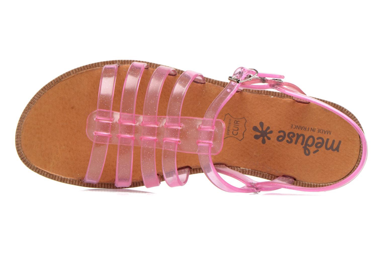 Sandales et nu-pieds Méduse Bora Rose vue gauche