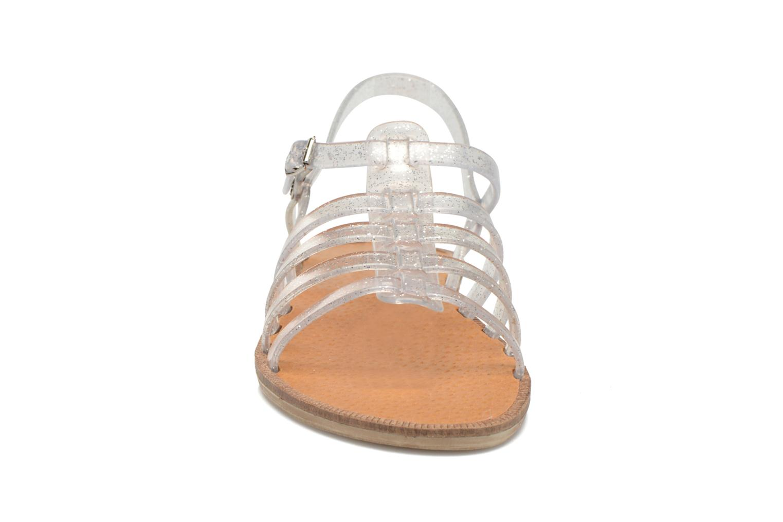 Sandales et nu-pieds Méduse Bora Argent vue portées chaussures