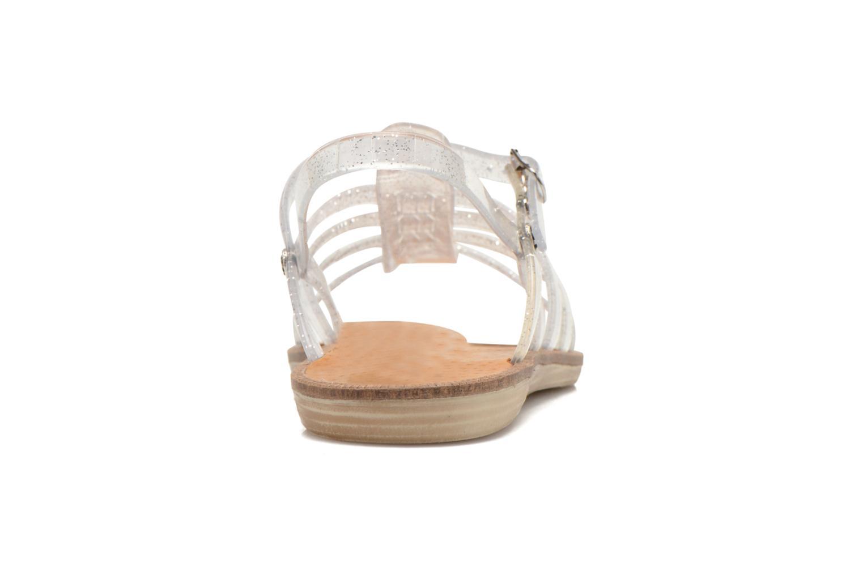 Sandales et nu-pieds Méduse Bora Argent vue droite