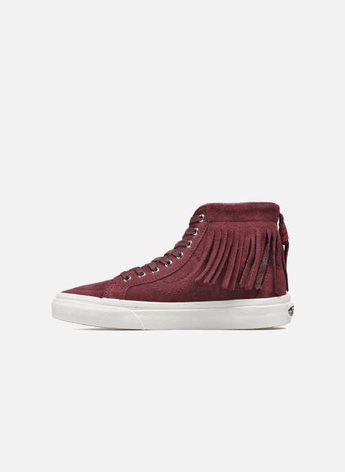 Sneakers Vans SK8-Hi Moc Rood voorkant