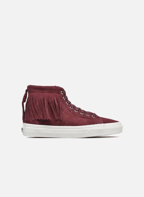 Sneakers Vans SK8-Hi Moc Rood achterkant