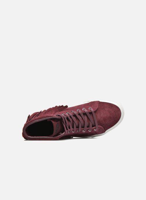 Sneakers Vans SK8-Hi Moc Rood links