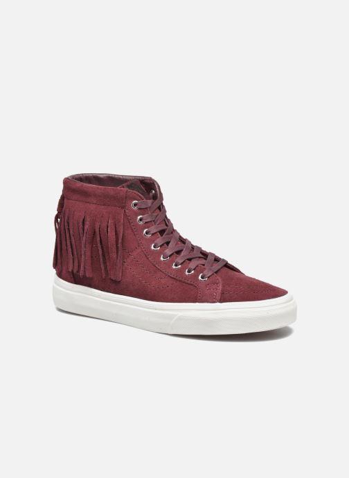 Sneakers Vans SK8-Hi Moc Rood detail