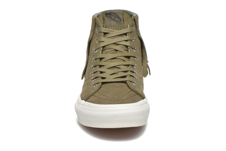 Baskets Vans SK8-Hi Moc Vert vue portées chaussures