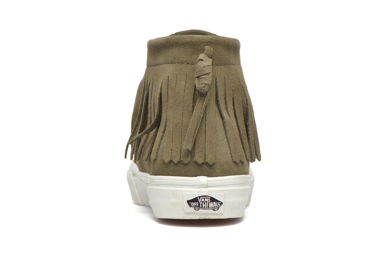 Baskets Vans SK8-Hi Moc Vert vue droite