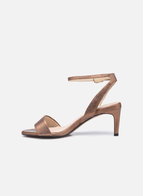 Sandales et nu-pieds Clarks Amali Jewel Marron vue face