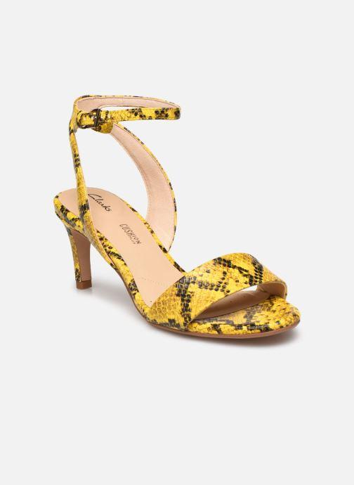 Sandales et nu-pieds Clarks Amali Jewel Jaune vue détail/paire