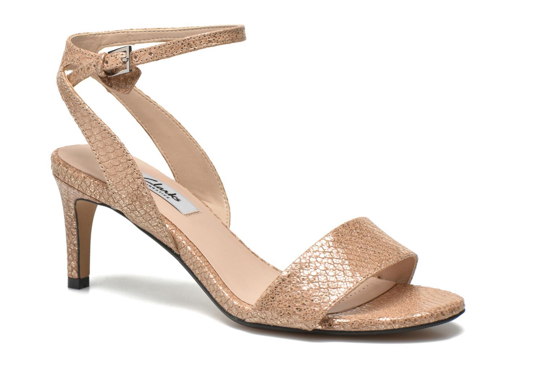 Sandales et nu-pieds Clarks Amali Jewel Or et bronze vue détail/paire