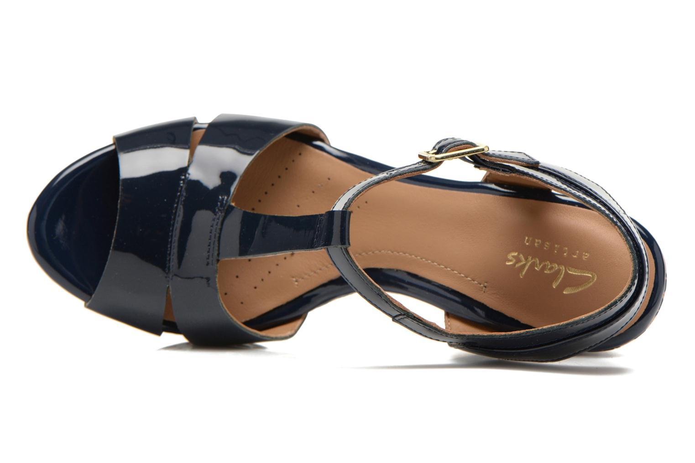 Sandales et nu-pieds Clarks Amelia Roma Bleu vue gauche