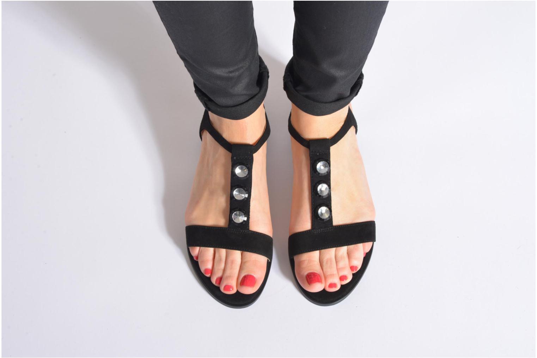 Sandales et nu-pieds Clarks Bliss Shimmer Noir vue bas / vue portée sac