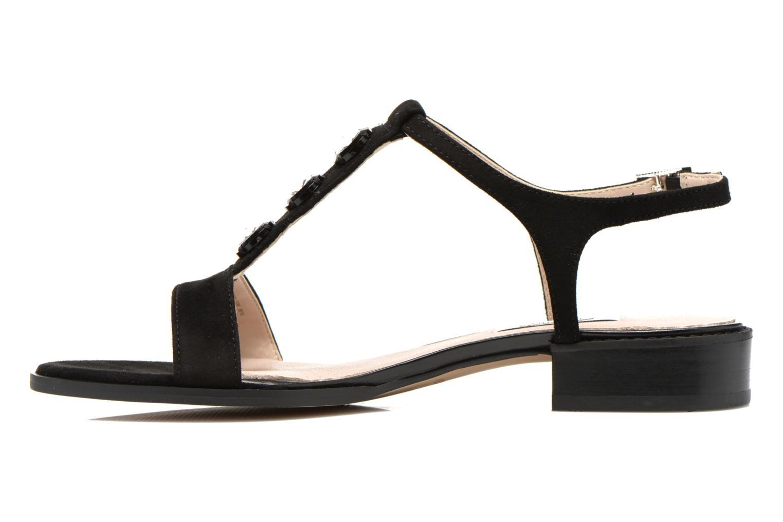 Sandales et nu-pieds Clarks Bliss Shimmer Noir vue face