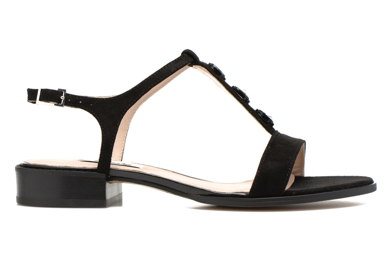 Sandales et nu-pieds Clarks Bliss Shimmer Noir vue derrière
