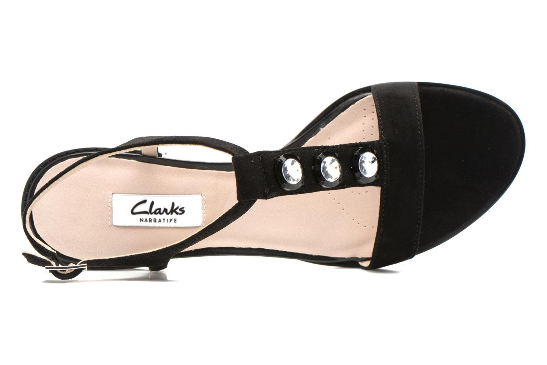 Sandales et nu-pieds Clarks Bliss Shimmer Noir vue gauche