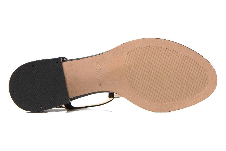 Sandales et nu-pieds Clarks Bliss Shimmer Noir vue haut