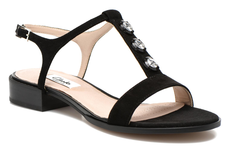 Sandales et nu-pieds Clarks Bliss Shimmer Noir vue détail/paire