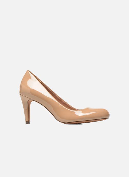 Zapatos de tacón Clarks Carlita Cove Beige vistra trasera
