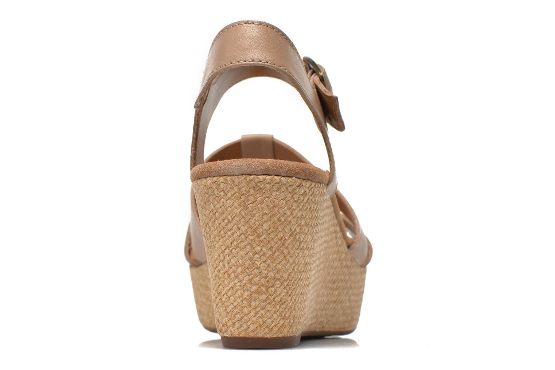 Sandales et nu-pieds Clarks Caslynn Harp Beige vue droite