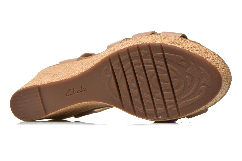 Sandales et nu-pieds Clarks Caslynn Harp Beige vue haut