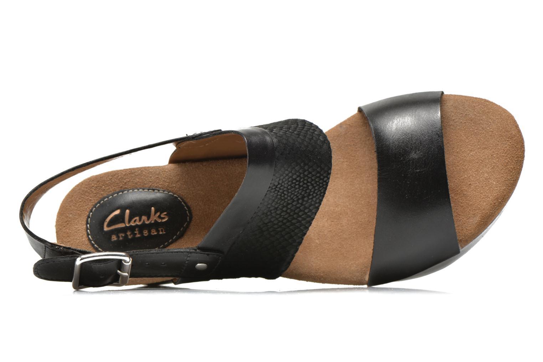 Sandaler Clarks Caslynn Kat Svart bild från vänster sidan