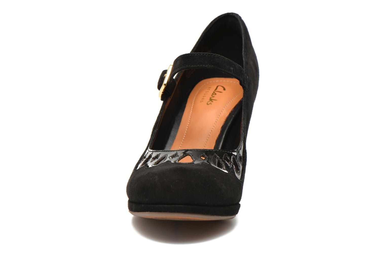 Escarpins Clarks Chorus Music Noir vue portées chaussures