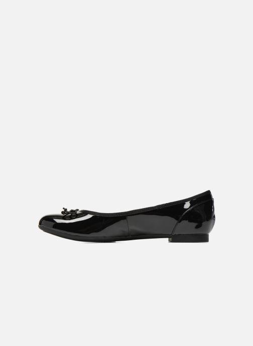 Ballerinas Clarks Couture Bloom schwarz ansicht von vorne