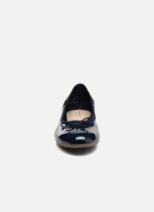 Ballerines Clarks Couture Bloom Bleu vue portées chaussures