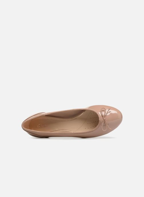 Ballerinas Clarks Couture Bloom beige ansicht von links
