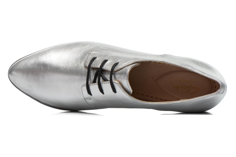 Chaussures à lacets Clarks Cressida Grace Argent vue gauche