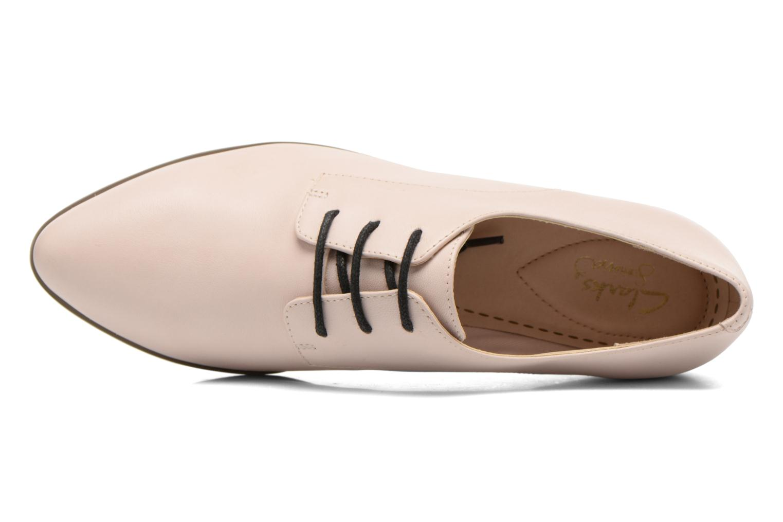 Chaussures à lacets Clarks Cressida Grace Rose vue gauche