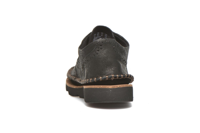 Chaussures à lacets Clarks Damara Rose Noir vue droite