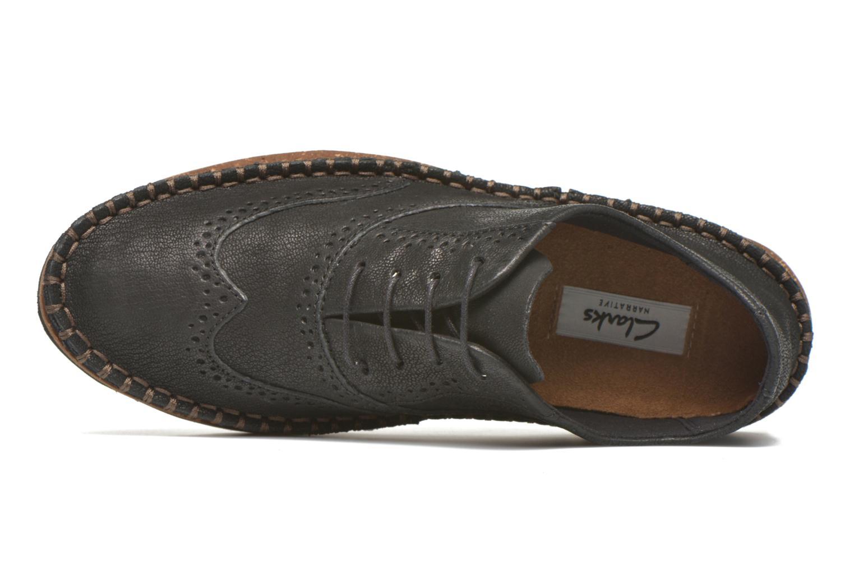 Chaussures à lacets Clarks Damara Rose Noir vue gauche