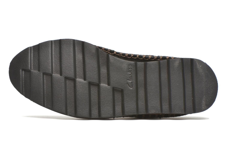Chaussures à lacets Clarks Damara Rose Noir vue haut