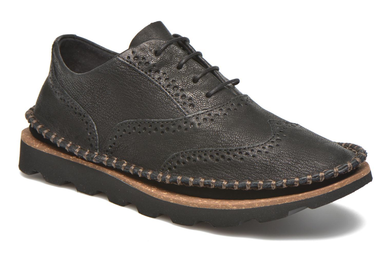 Chaussures à lacets Clarks Damara Rose Noir vue détail/paire
