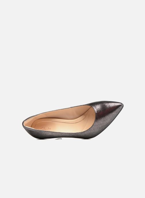 Zapatos de tacón Clarks Dinah Keer Plateado vista lateral izquierda