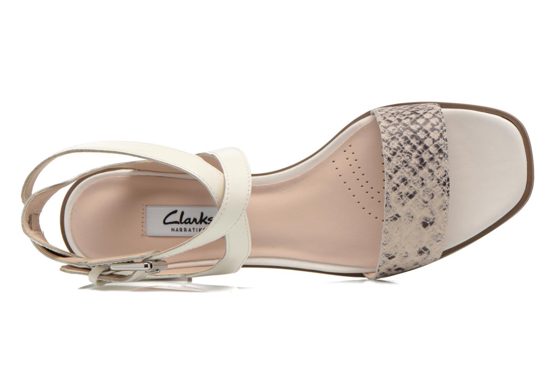 Sandales et nu-pieds Clarks Ivangelie Ray Blanc vue gauche