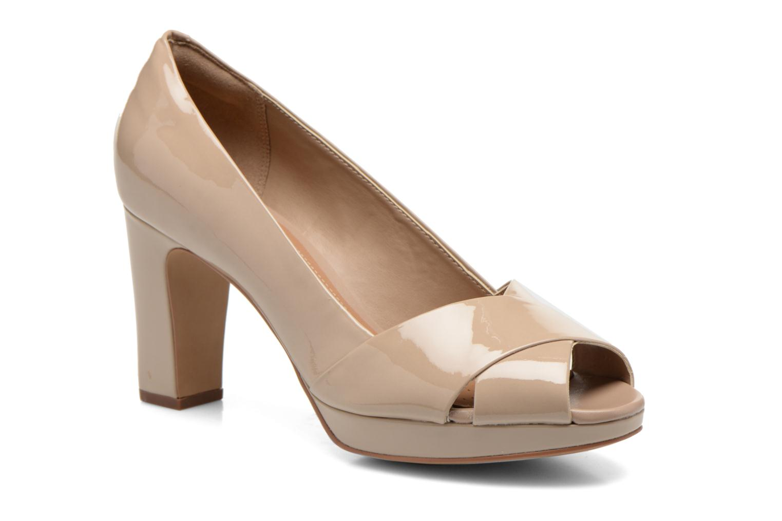 High heels Clarks Jenness Cloud Beige detailed view/ Pair view