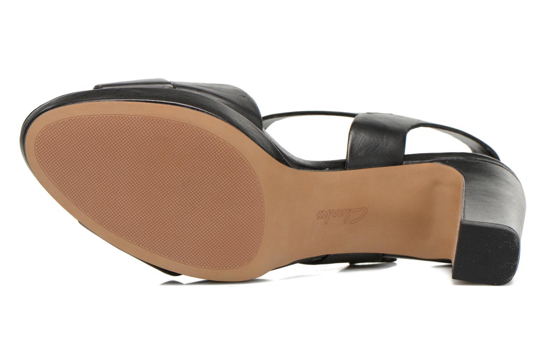 Sandales et nu-pieds Clarks Jenness Soothe Noir vue haut