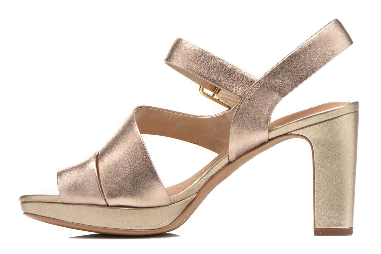 Sandales et nu-pieds Clarks Jenness Soothe Or et bronze vue face