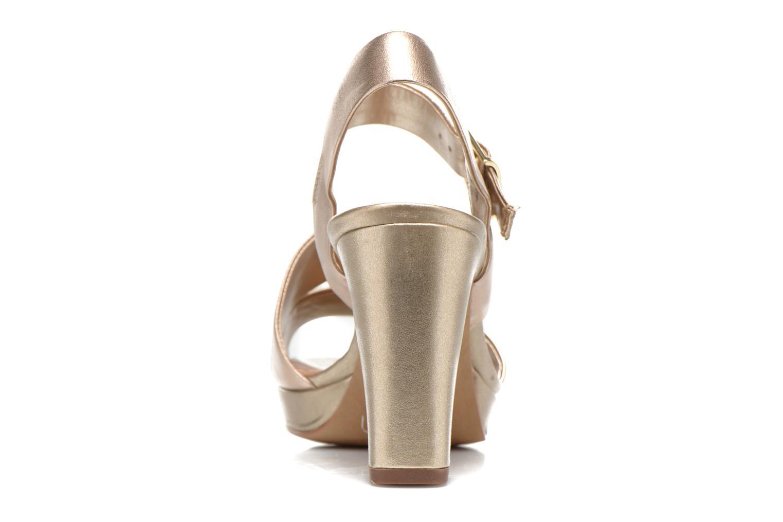 Sandales et nu-pieds Clarks Jenness Soothe Or et bronze vue droite