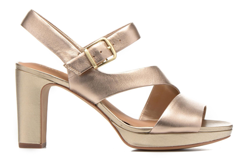 Sandales et nu-pieds Clarks Jenness Soothe Or et bronze vue derrière