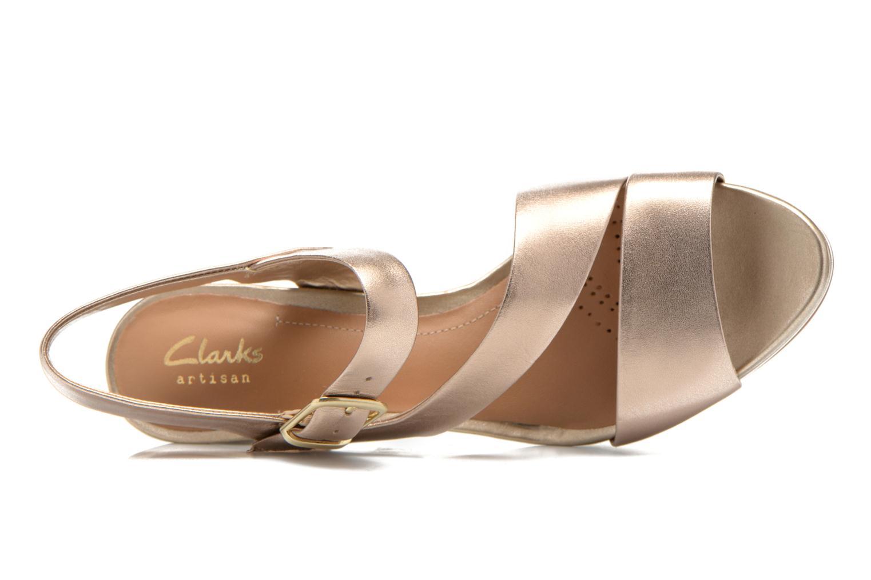 Sandales et nu-pieds Clarks Jenness Soothe Or et bronze vue gauche