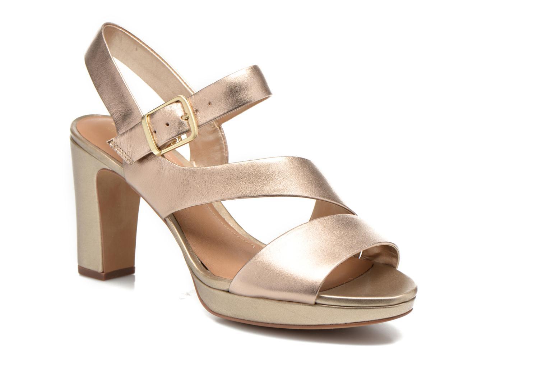 Sandales et nu-pieds Clarks Jenness Soothe Or et bronze vue détail/paire