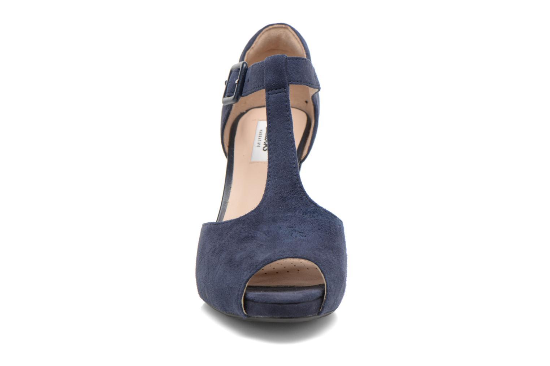 Escarpins Clarks Kendra Flower Bleu vue portées chaussures