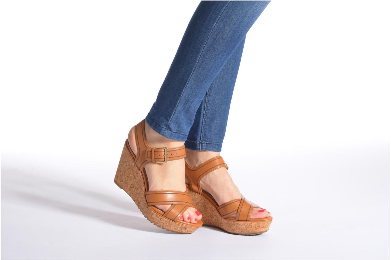 Sandales et nu-pieds Clarks Scent Sky Noir vue bas / vue portée sac