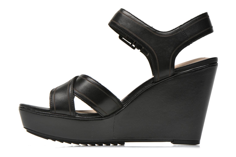 Sandales et nu-pieds Clarks Scent Sky Noir vue face