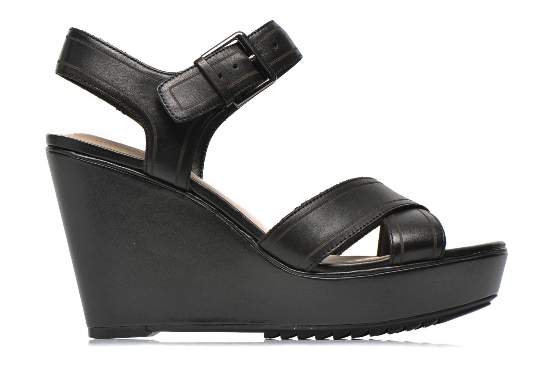 Sandales et nu-pieds Clarks Scent Sky Noir vue derrière