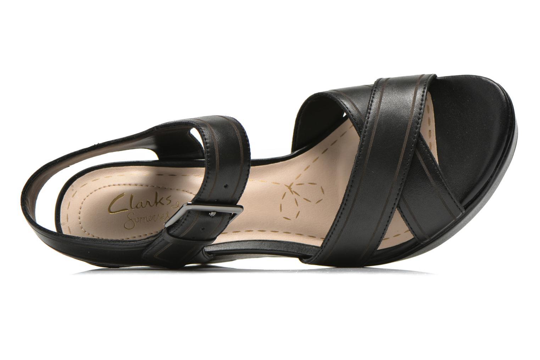 Sandales et nu-pieds Clarks Scent Sky Noir vue gauche