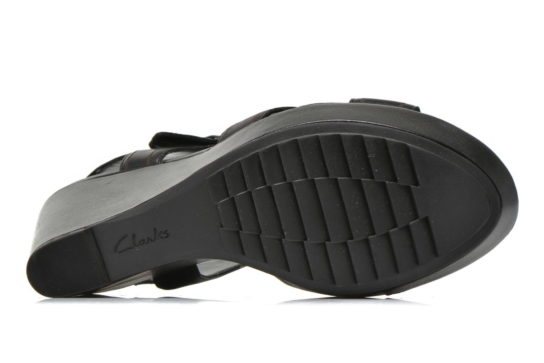 Sandales et nu-pieds Clarks Scent Sky Noir vue haut